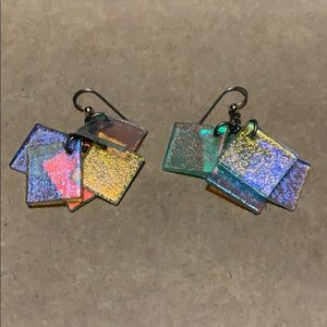 Jewelry - Mesmerizing rainbow tile earrings